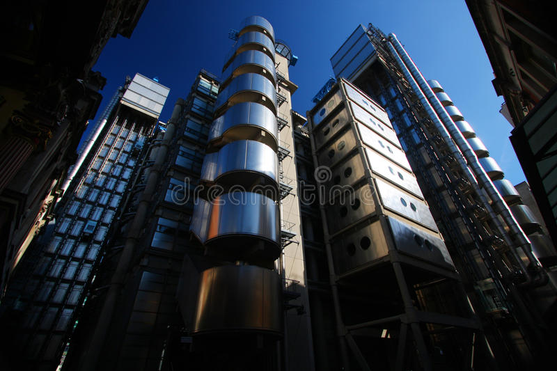 The Lloyds Building in London. 's financial district stock photography