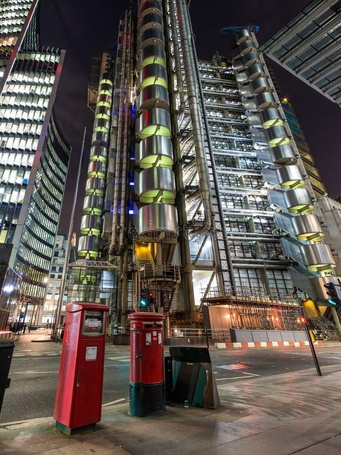 Lloyds byggnad i London, Förenade kungariket arkivbilder