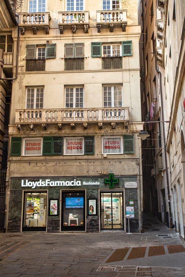 Lloyds Farmacia w Genui obrazy stock