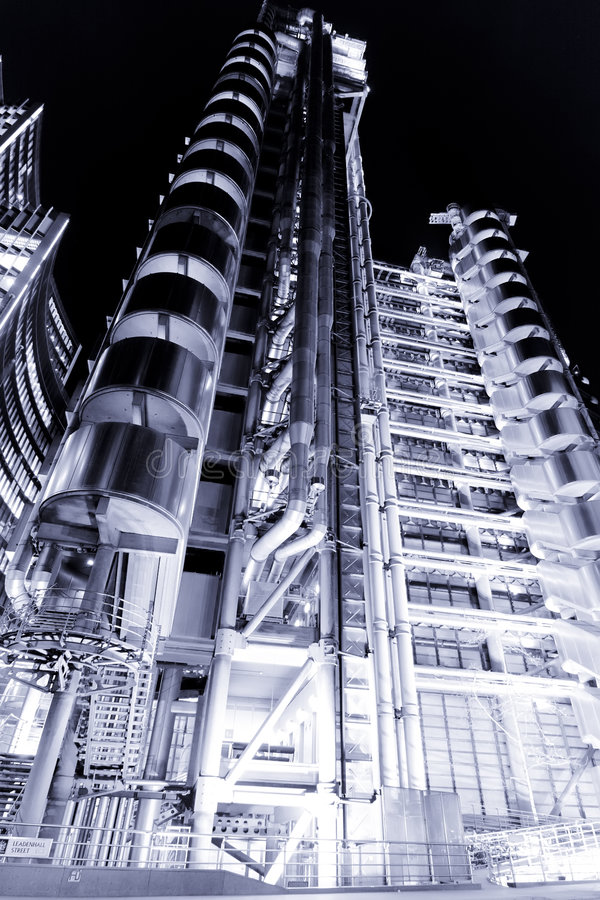 Lloys Building At Night Stock Images