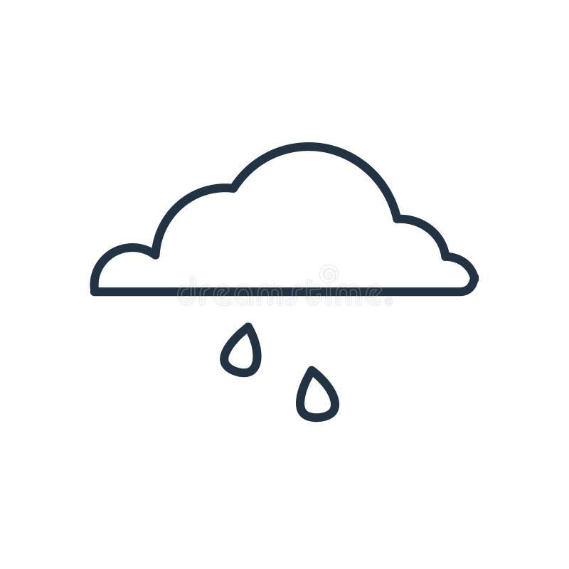 Llueva el vector del icono aislado en el fondo blanco, muestra de la lluvia libre illustration
