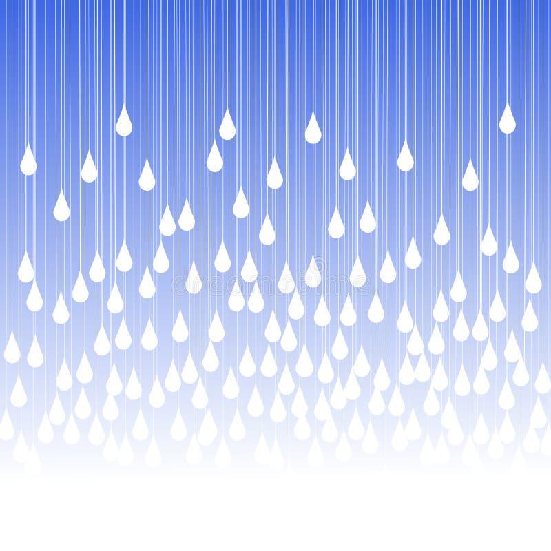 Llueva las gotas y la tarjeta de felicitación de la niebla stock de ilustración