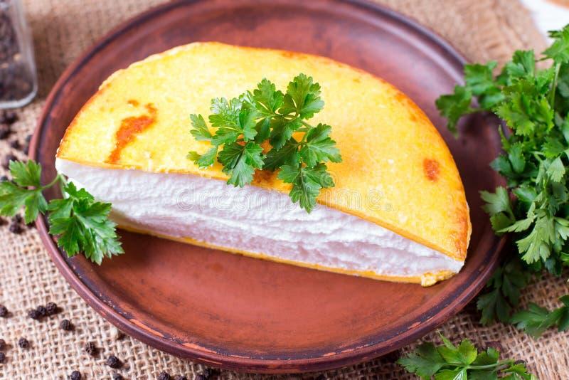 Llush omlet w Francuskim zdjęcia stock