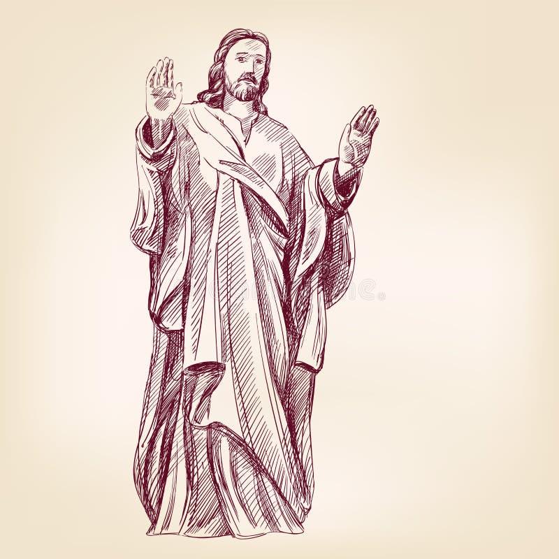 Llustration вектора христианства Иисуса Христоса бесплатная иллюстрация