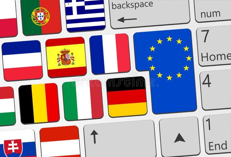 Llustration de concept de l'Europe photo stock