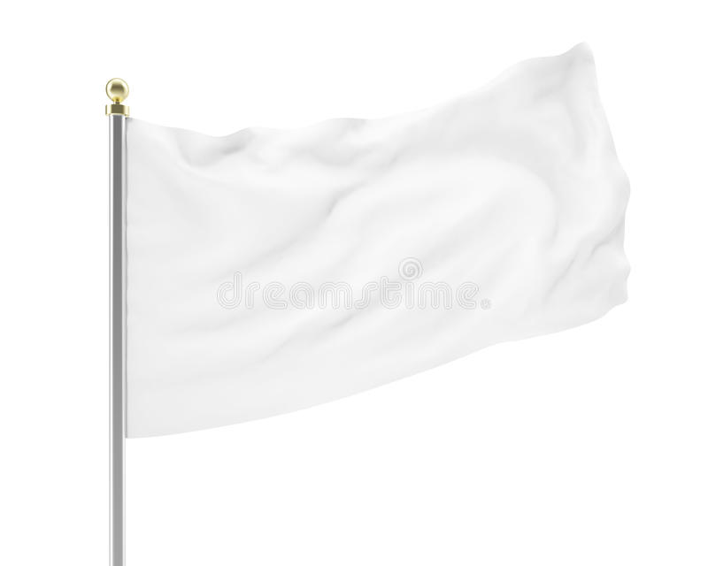 Llustration de tornar-se vazio da bandeira branca ilustração royalty free