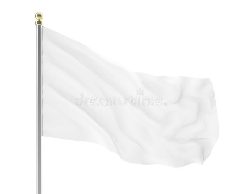 Llustration di uno sviluppo vuoto della bandiera bianca illustrazione di stock