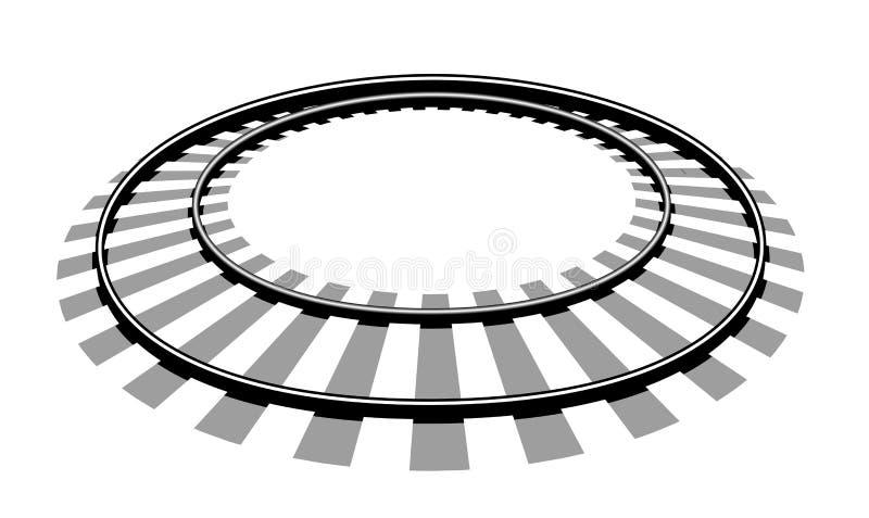 Llustration di vettore dei binari ferroviari illustrazione di stock