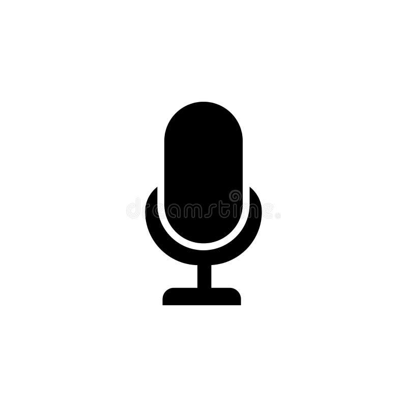 llustration do sinal do Mic Ícone do microfone do karaoke Ícone do vetor do Mic Ícone do vetor do microfone Sinal do mic da trans ilustração stock