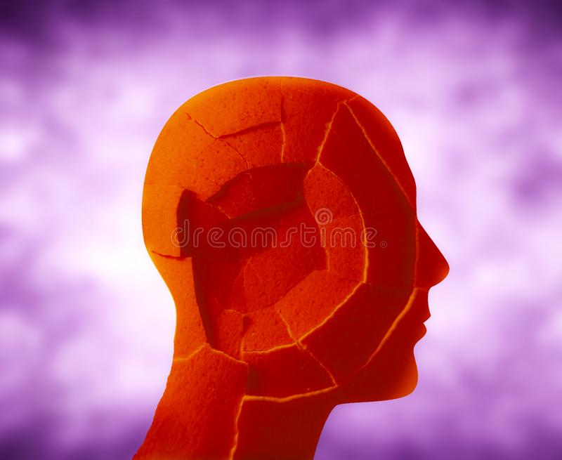 Llustration numérique de tête criquée photographie stock