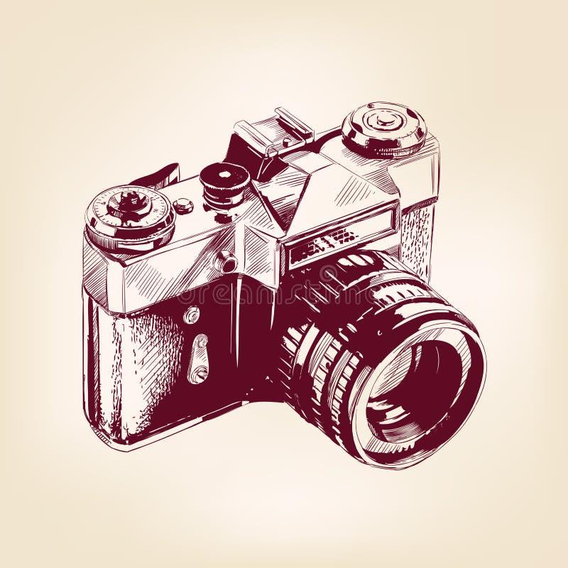 Llustration velho do vetor da câmera da foto do vintage ilustração do vetor