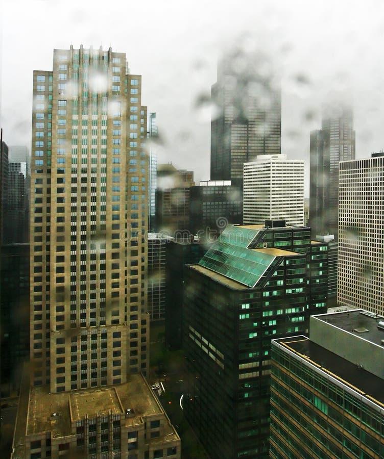 Lluvia de Chicago fotografía de archivo