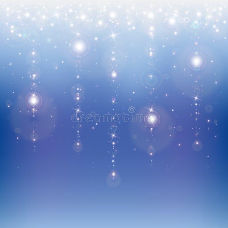 Lluvia de la estrella stock de ilustración