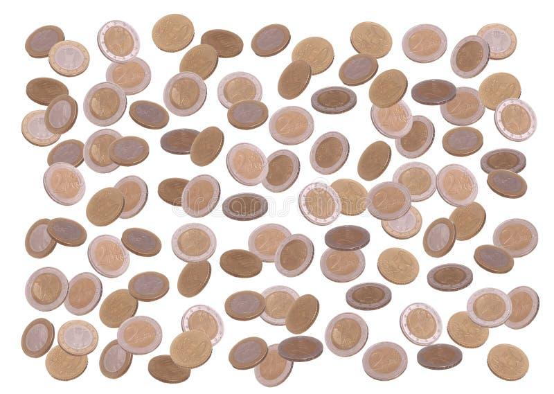 Lluvia de la moneda europea foto de archivo libre de regalías