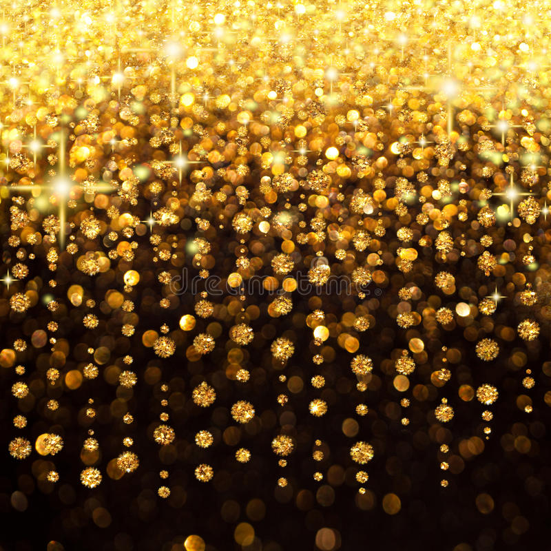 Lluvia de la Navidad de las luces o del fondo del partido fotos de archivo