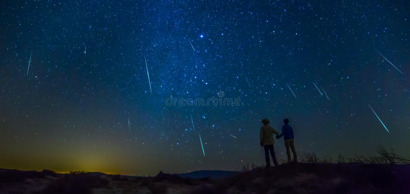 Lluvia de meteoritos fotos de archivo libres de regalías
