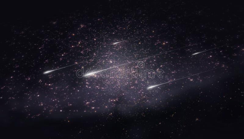 Lluvia de meteoritos imagenes de archivo