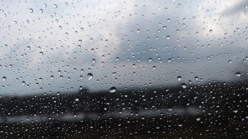 Lluvia del camino fotografía de archivo