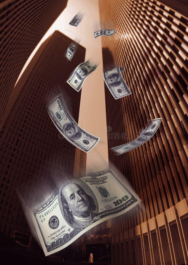 Lluvia del dinero fotografía de archivo libre de regalías