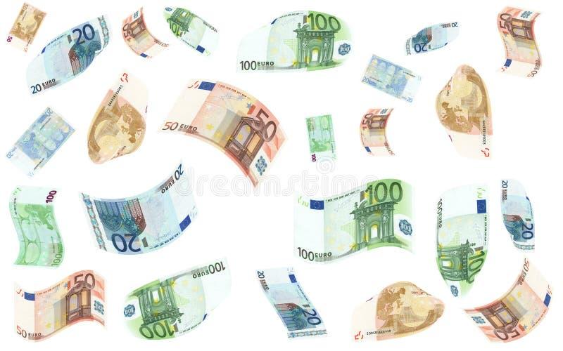 Lluvia del dinero stock de ilustración