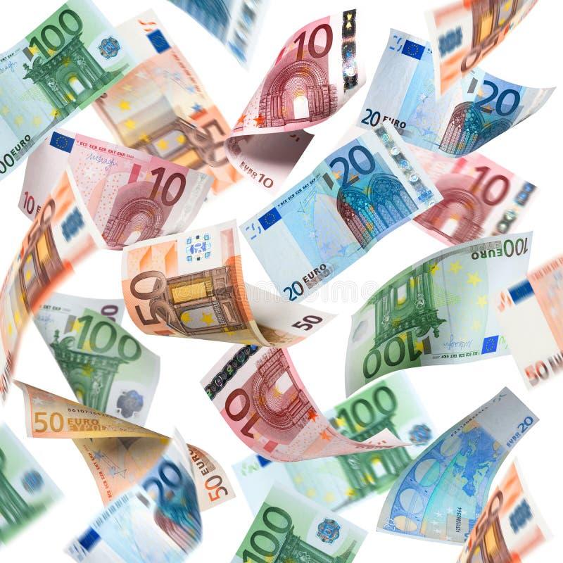Lluvia del dinero imagenes de archivo