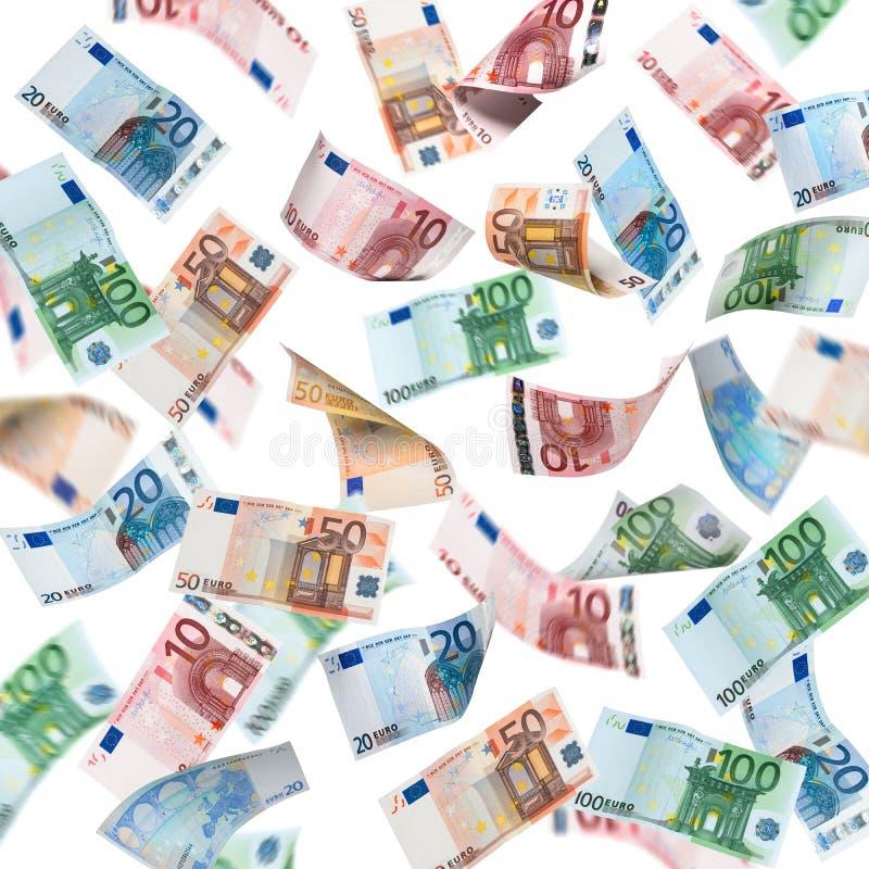 Lluvia del dinero fotos de archivo