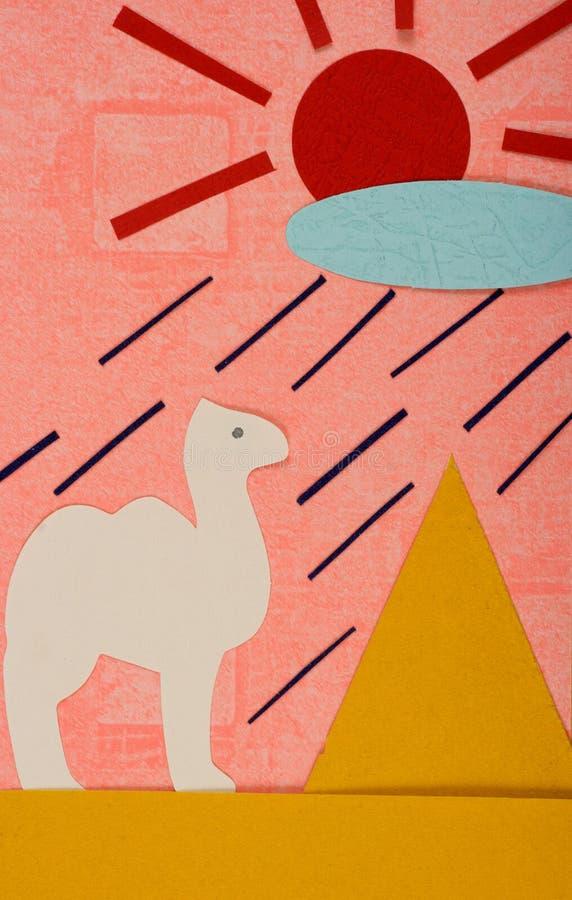 Lluvia en el desierto imagen de archivo libre de regalías
