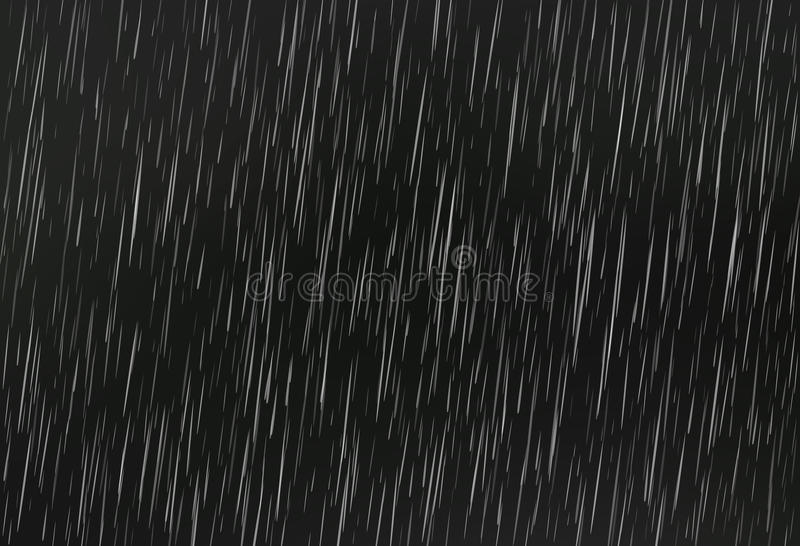 Lluvia en negro Textura de la lluvia del vector Fondo abstracto del vector ilustración del vector