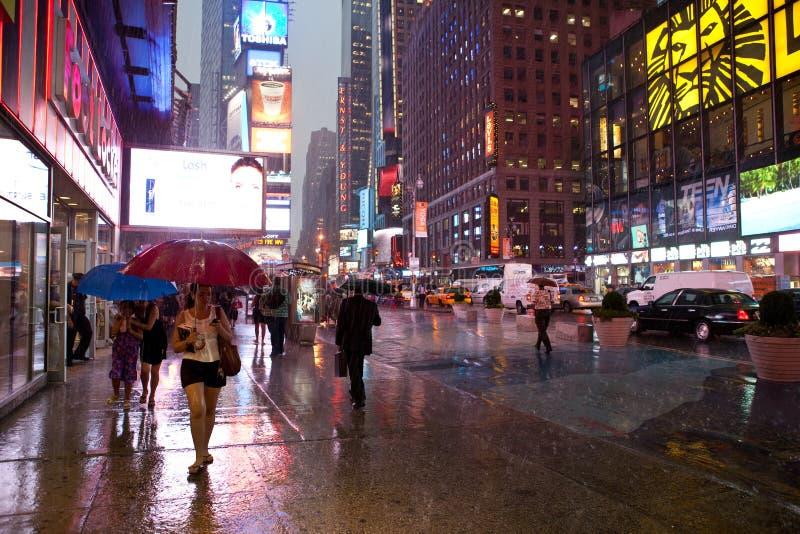 Lluvia en Nueva York fotos de archivo libres de regalías