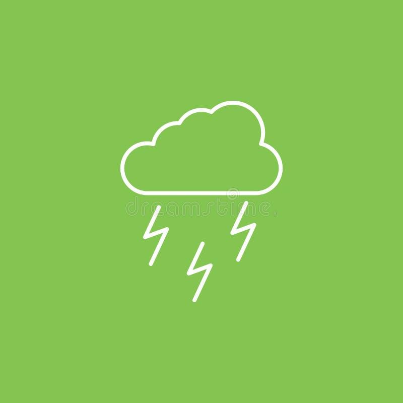 Lluvia, energía, icono de la iluminación - vector Ejemplo simple del elemento del concepto de UI Lluvia, energía, icono de la ilu stock de ilustración
