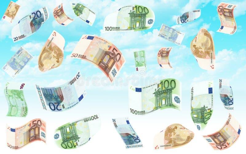 Lluvia euro stock de ilustración