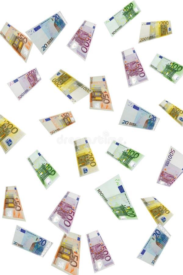 Lluvia euro fotos de archivo libres de regalías