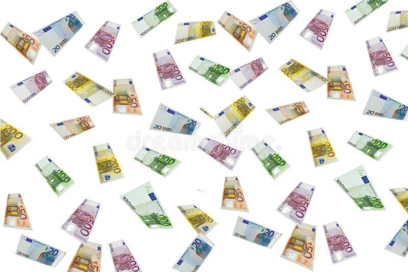 Lluvia euro fotografía de archivo libre de regalías