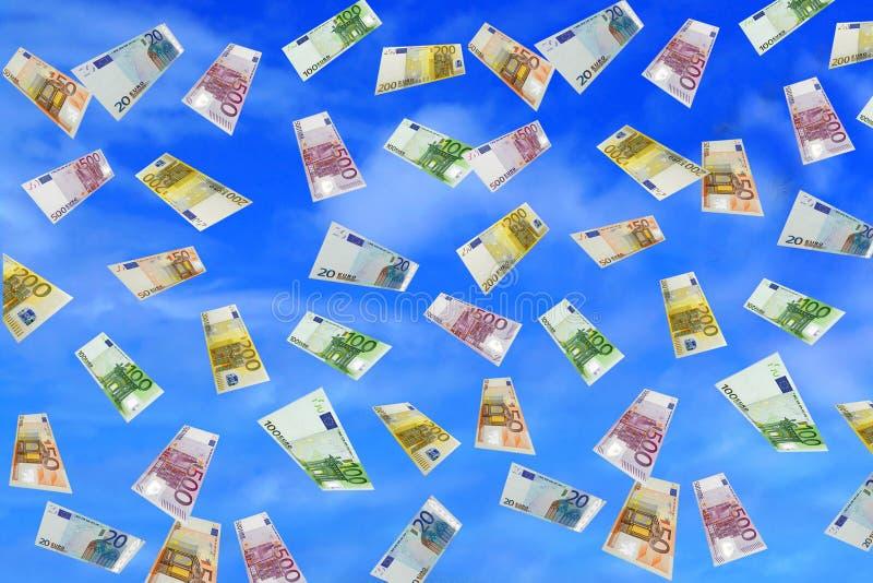 Lluvia euro fotografía de archivo