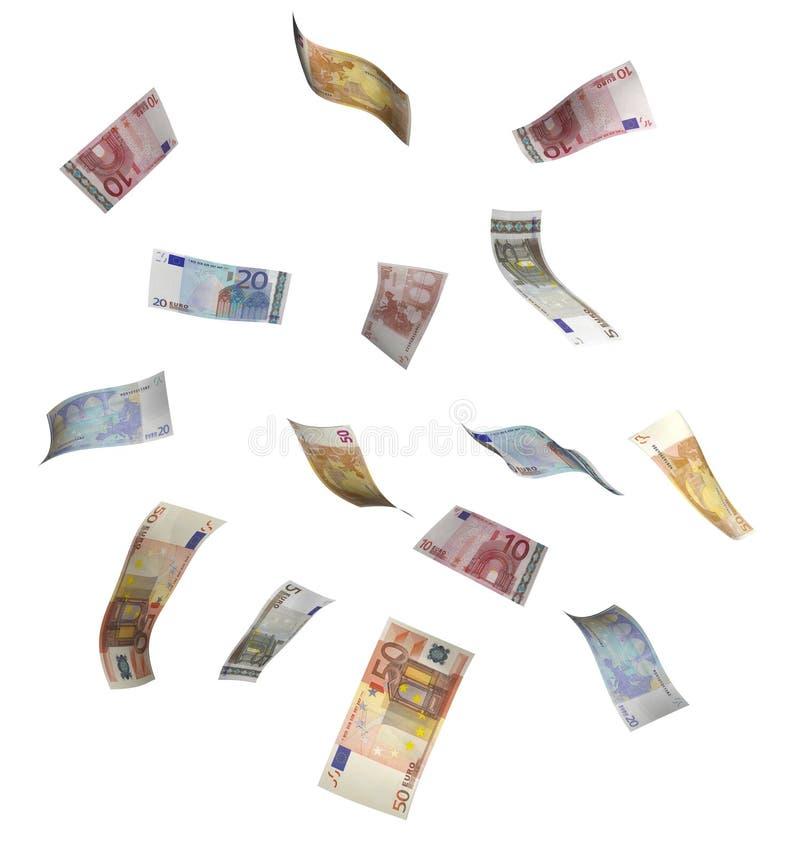 Lluvia euro del dinero
