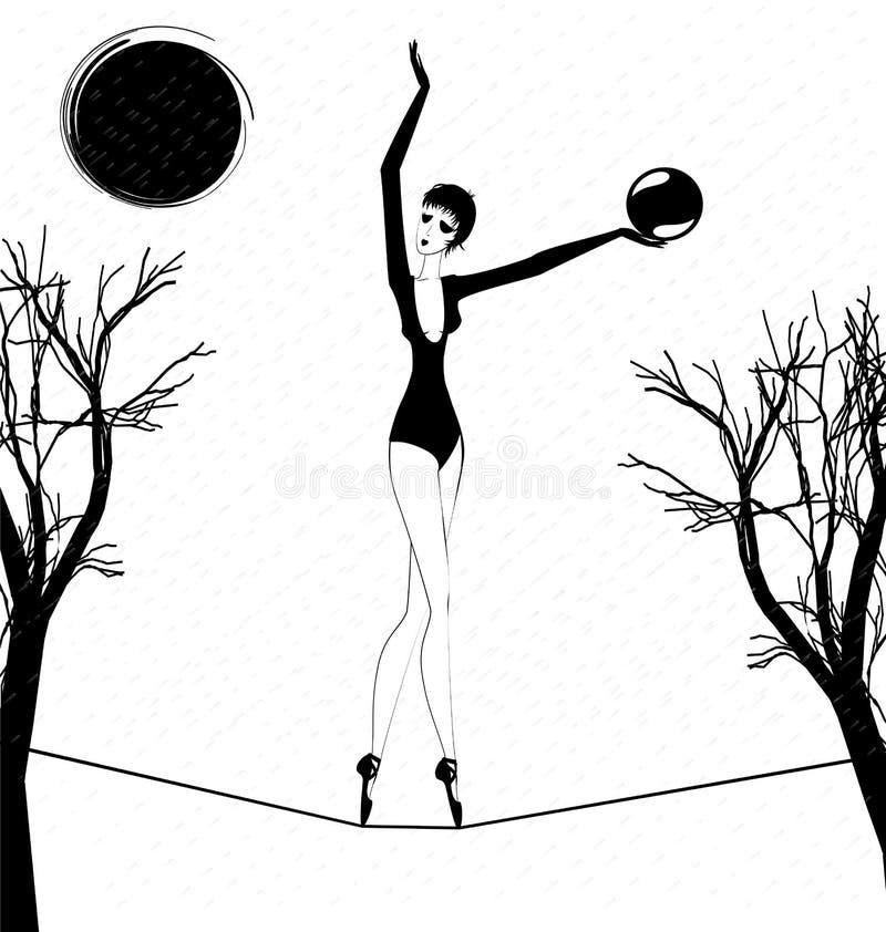 Download Lluvia Y Una Muchacha Extraña Con La Bola Ilustración del Vector - Ilustración de lluvia, cubo: 41900320