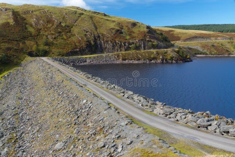 Llyn Brianne水库的水坝 库存照片
