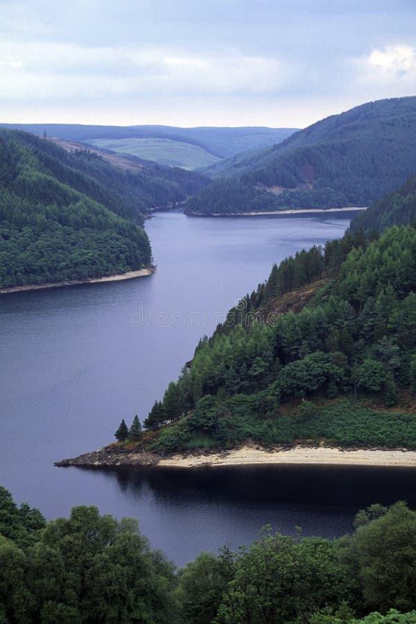 Llyn Brianne reservoir royalty free stock photos