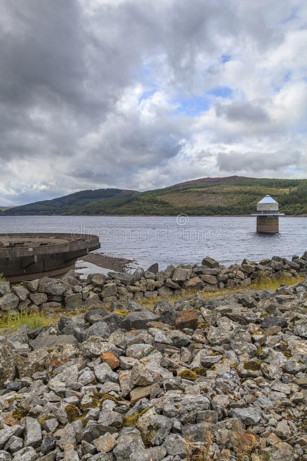 Llyn Celyn Reservoir royalty free stock photography