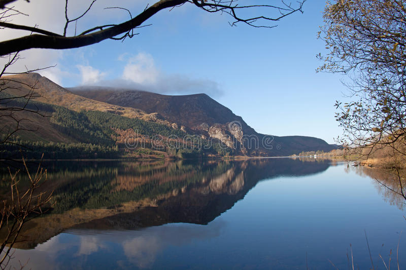 Llyn Cwellyn off the A4085 royalty free stock photo