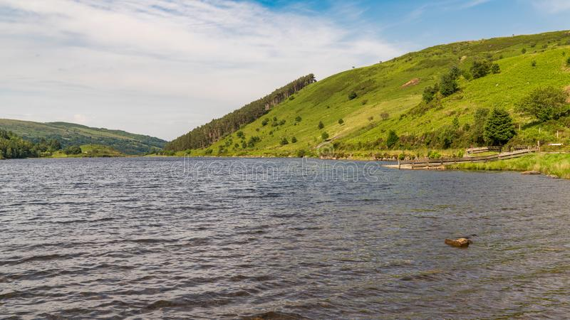Llyn Geirionydd, Conwy, Clwyd, Walia, UK zdjęcie royalty free
