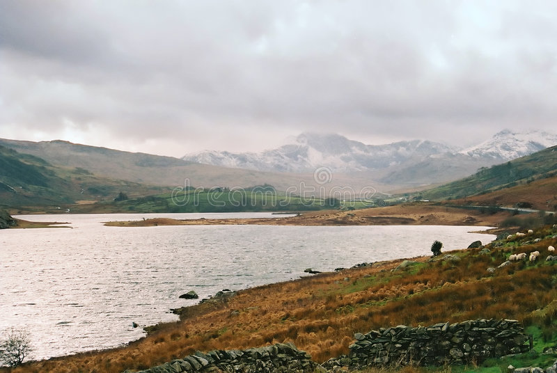 Llyn Ogwen, Snowdonia imagen de archivo libre de regalías