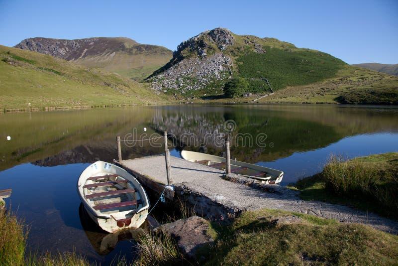 Llyn Y Dywarchen fotografia stock libera da diritti