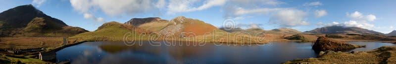 Llyn Y Dywarchen A Fishing Lake Stock Photos