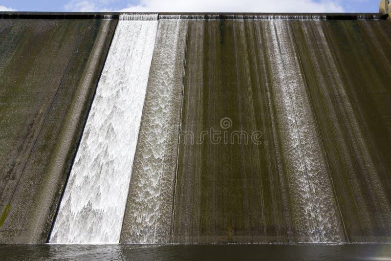 Llys y Fran Reservoir Dam överflöd royaltyfri fotografi