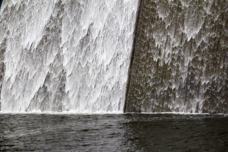 Llys y Fran Reservoir Dam överflöd arkivbild