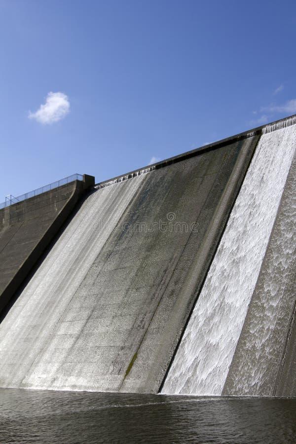 Llys y Fran Reservoir Dam överflöd royaltyfri foto
