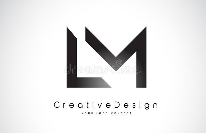 LM L M Letter Logo Design Vector moderno L de las letras del icono creativo ilustración del vector