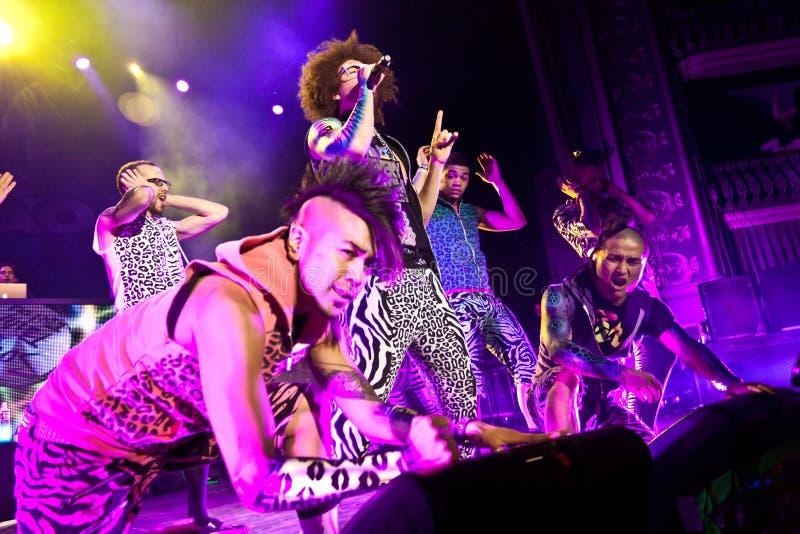 LMFAO Performing Live at Coliseu de Lisboa stock images