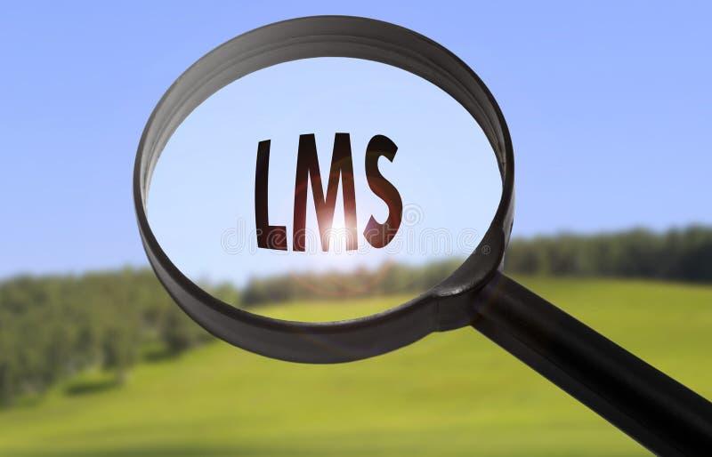 LMS que aprende o sistema de gestão imagem de stock royalty free